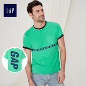 Gap男裝 Logo系列時尚舒適短袖T恤 227135-亮草綠色