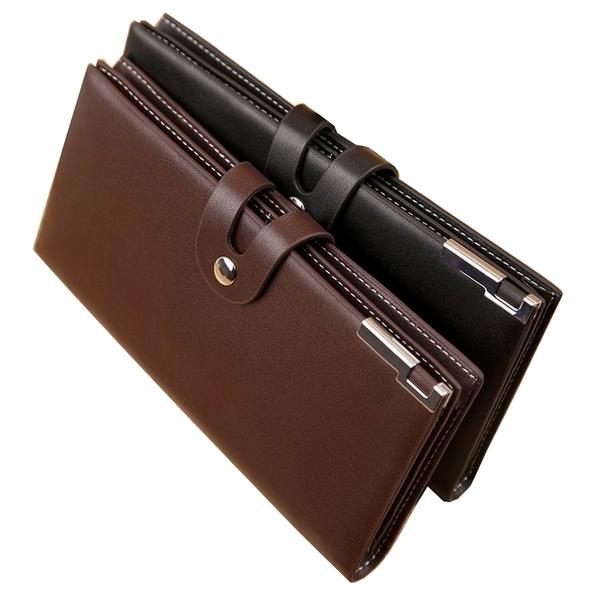 錢包男長款 男士搭扣錢包商務手拿包韓版潮錢夾手包男包卡包 黛尼時尚精品