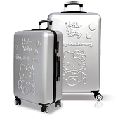 【YC Eason】45週年Hello Kitty19+26吋行李箱(銀色-2件組)