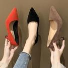 高跟鞋女細跟紅色婚鞋