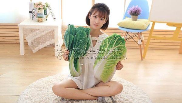 創意仿真蔬菜大白菜抱枕3D毛絨趴睡枕YL-FZBZ126