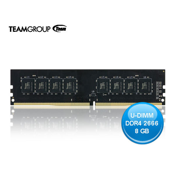 TEAM 十銓 ELITE U-DIMM DDR4 8GB 2666 桌上型電腦 記憶體