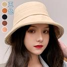 帽簷捲邊拼接漁夫帽(5色)【995187W】【現+預】-流行前線-