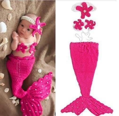 【發現。好貨】新生兒可愛服飾 小美人魚造型 寶寶攝影服裝服飾 寶寶滿月百天拍照服 寶寶滿月禮