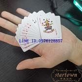 迷你撲克掌心撲克旅游便攜可愛小撲克牌54張紙牌【繁星小鎮】