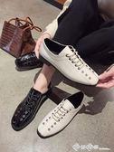 韓版方頭chic小皮鞋女2019新款粗跟百搭英倫風女鞋復古春季單鞋女 西城故事