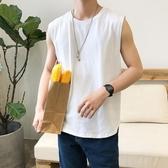 背心男夏季ins無袖t恤韓版個性潮流健身運動坎肩純棉透氣汗衫 貝芙莉