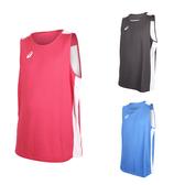 ASICS 男女雙面籃球背心 (免運 兩面穿 無袖上衣 訓練 籃球 亞瑟士≡體院≡