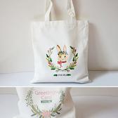 帆布袋 手提包 帆布包 手提袋 環保購物袋--單肩/拉鏈