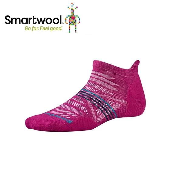【美國 SmartWool 女Phd戶外輕量減震踝襪《紫莓色》】SW001306/保暖/戶外/運動襪