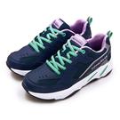 LIKA夢 GOODYEAR 固特異經典復古慢跑鞋 WALK QUEEN 2老爹鞋系列 藍紫綠 92826 女