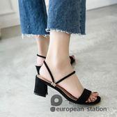 涼鞋/中跟一鞋兩穿涼拖鞋女夏外穿粗跟羅馬高跟「歐洲站」