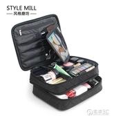 新款韓國大容量化妝包特大號雙層收納包多功能旅行手提防水洗漱包 電購3C