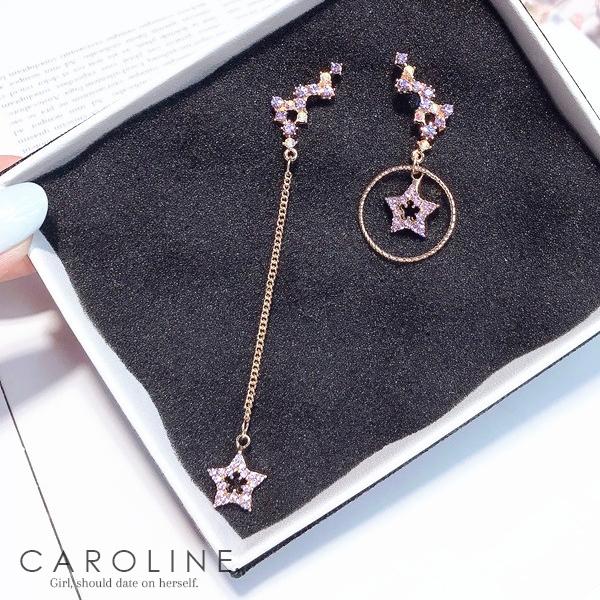 《Caroline》★韓國熱賣造型時尚 閃人耀眼水鑽 高雅大方設計耳環70539