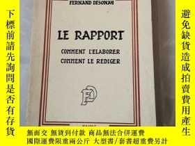 二手書博民逛書店LE罕見RAPPORT COMMENT L ELABORER N3Y10336