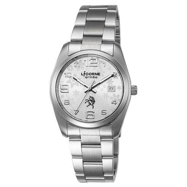 【LICORNE力抗錶】簡約時尚設計都市手錶 (白/銀 LT083BWWA)