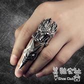日韓潮流雙環關節戒指男霸氣個性骷髏指環非主流飾品 Sq6655『美鞋公社』