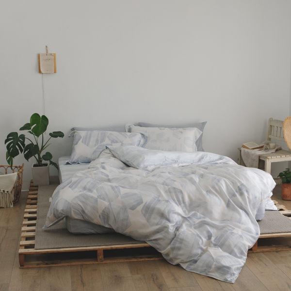 天絲 床包被套組(薄) 加大【艾爾莎】涼感 親膚 100%tencel 萊賽爾纖維 翔仔居家