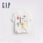 Gap男幼童 童趣印花透氣短袖T恤 870267-白色