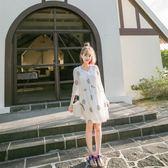 碎花雪紡連身裙女小清新大碼沙灘裙子