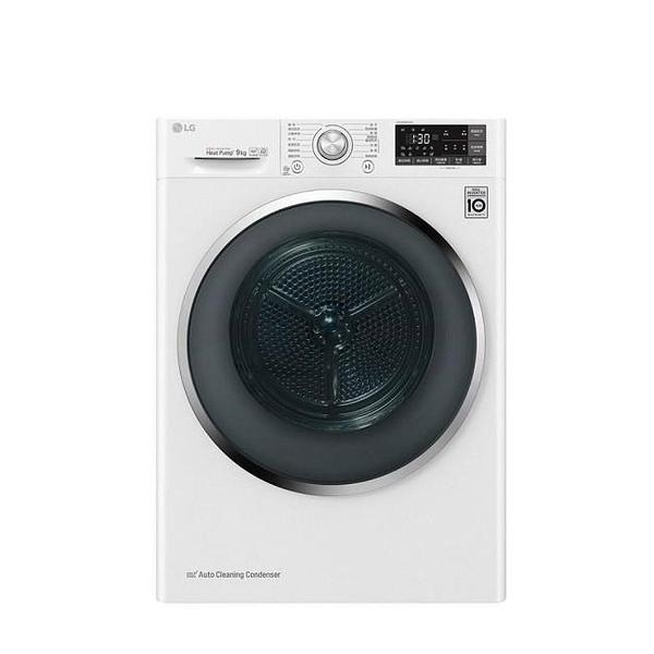 【南紡購物中心】LG樂金【WR-90VW】9公斤免曬衣機強化玻璃款乾衣機