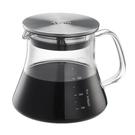 金時代書香咖啡 Tiamo 不鏽鋼蓋耐熱玻璃壺 400ml HG2188