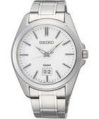 SEIKO 大日期視窗百米防水手錶-銀/40mm 6N76-00A0S(SUR007P1)