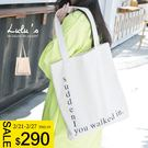 LULUS-D韓製-英字帆布包-白  現+預【07030300】