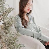 襯衫女長袖緞面雪紡2018新款春秋港味復古chic上衣韓版西裝領襯衣 春生雜貨