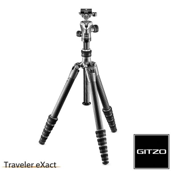 【聖影數位】法國 GITZO Traveler eXact GK1555T-82TQD 碳纖維三腳架雲台套組 1號5節-旅行家系列 公司貨