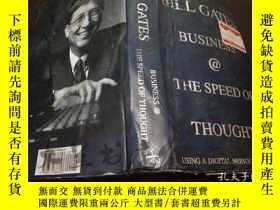 二手書博民逛書店原版英法德意等外文Bill罕見Gates BUSINESS@TH