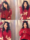 秋冬季新款韓版寬鬆百搭網紅套頭圣誕毛衣慵懶風顯瘦針織衫女    MOON衣櫥