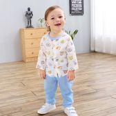年終9折大促 男女寶寶純棉長袖紗布套裝2018夏季嬰幼兒衣服卡通兩件套夢想巴士