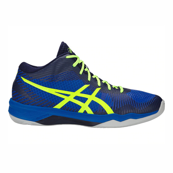 Asics Volley Elite Ff Mt [B700N-407] 男鞋 運動 排球 羽球 桌球 彈跳 深藍 螢黃