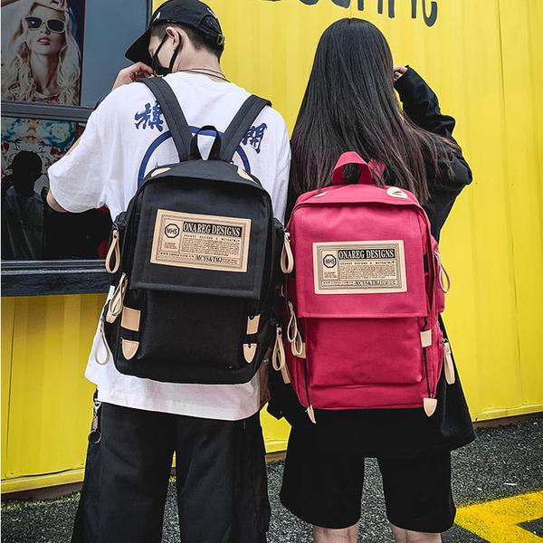【5折超值價】經典潮流日韓街頭造型百搭男女情侶後背包
