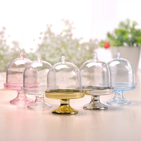 婚禮小物DIY.透明玻璃罩糖果盒.尺寸8*3.5