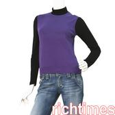 agnes b.紫色針織背心AB3A7608