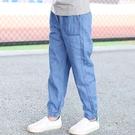童裝牛仔褲兒童牛仔褲寶寶防蚊褲男童夏季薄款褲子中小童男孩長褲 艾瑞斯居家生活