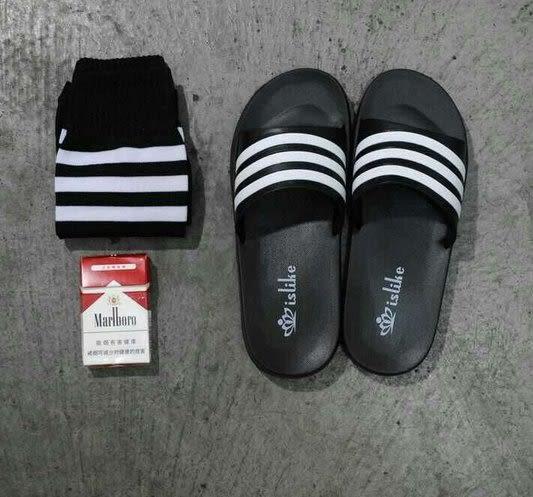 【找到自己】韓國 條文 線條 涼鞋 矽膠 彈性 好穿!! 拖鞋 外出鞋