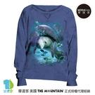 摩達客 預購-美國進口The Mountain 棲息海牛群 女版船型領休閒長袖T恤