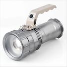 【 現貨】大功率肩背LED應急燈 充電手電筒 變焦 聚光 遠射 手提燈 探照燈XML-T6