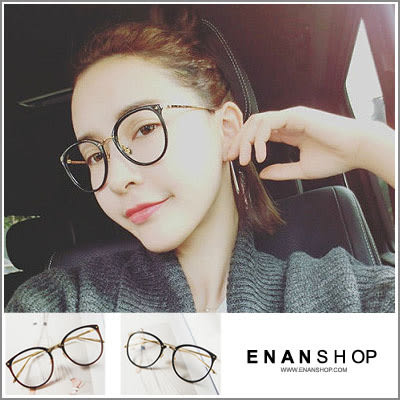 惡南宅急店【0025M】阿拉蕾金屬平光鏡眼鏡架 韓國經典圓形設計可配近視眼鏡