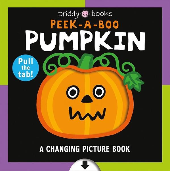 【麥克書店】PEEK A BOO PUMPKIN/CHANGING PICTURE BOOK/萬聖節硬頁拉拉書 《主題: 萬聖節》