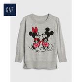 Gap女幼童童趣迪士尼圓領針織上衣519111-麻灰色