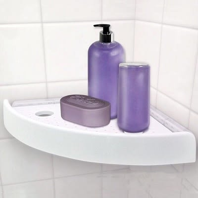 三角置物架SnapUp Shelf-浴室廚房轉角雜物收納架73pp372[時尚巴黎]