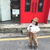奶油cream2019新款韓版兒童春秋裝長袖上衣寶寶襯衣女童白色襯衫Mandyc