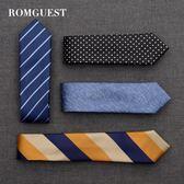 romguest領帶男士韓版6cm窄休閑商務職業學生女正裝新郎結婚定制