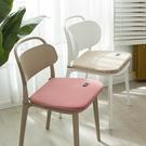 馬蹄形餐椅墊兔毛絨坐墊加厚桌椅子座墊辦公室四季通用凳子墊保暖