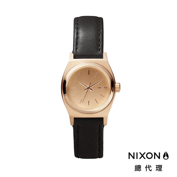 【官方旗艦店】NIXON SMALL TIME TELLER 極簡迷你錶款 玫瑰金X黑 潮人裝備 潮人態度 禮物首選