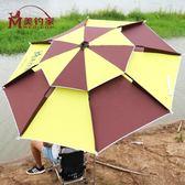 美釣家釣魚傘2米2.2米萬向防雨摺疊戶外釣傘防曬遮陽傘魚傘垂釣傘 智聯igo